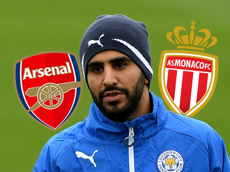 Mahrez hopes for Arsenal transfer as Monaco priced out of deal