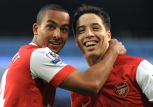 Theo Walcott, Samir Nasri - Manchester City 0-3 Arsenal - Oct 24, 2010