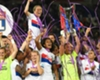 Lyon celebrate Women's Champions League glory