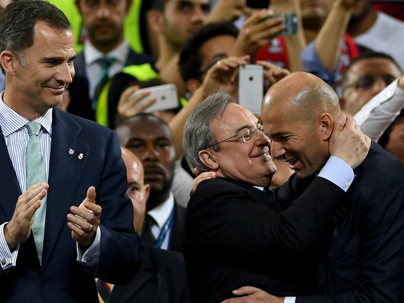 """VIDÉO - Perez : """"Zidane, le meilleur entraineur au monde"""""""