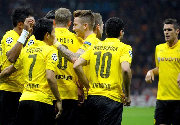 Galatasaray 0-4 Borussia Dortmund: Aubameyang puts BVB on brink of qualification