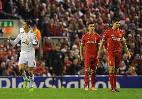 Résumé de match, Liverpool-Real (0-3)