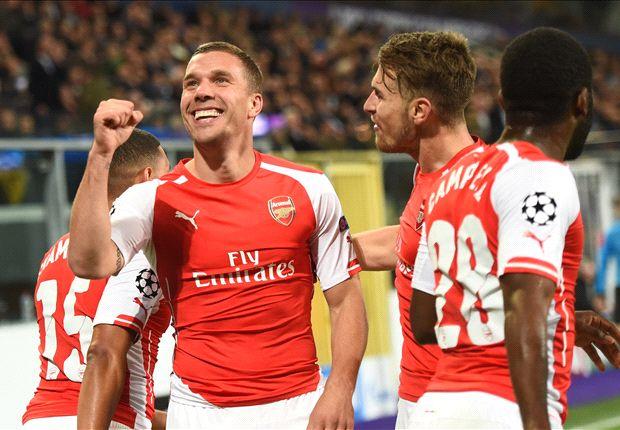 Podolski trolls Tottenham after Arsenal beats Spurs to second - Goal.com