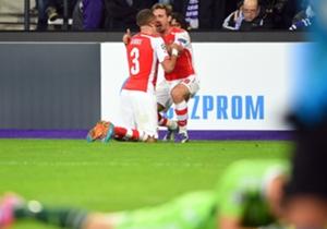 Kieran Gibbs (1-1) | Anderlecht 1 Arsenal 2 | Liga Champions