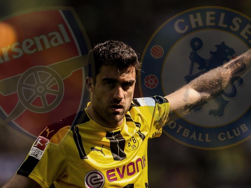 Chelsea and Arsenal interested in Dortmund defender Sokratis