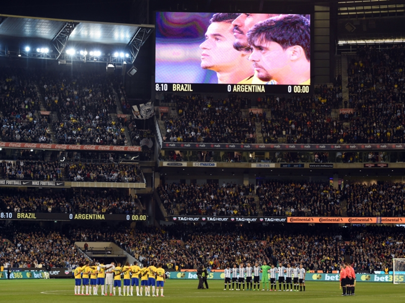 WATCH: How it feels to walk out in front of 95,000 for Brazil