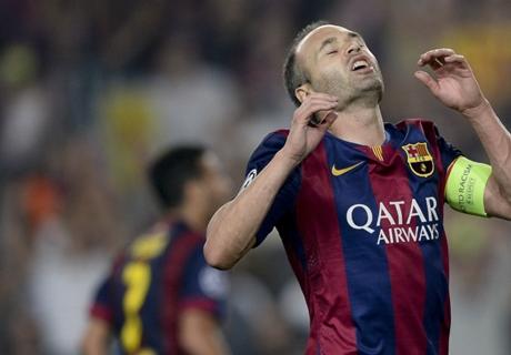 Barça, Iniesta sort sur blessure
