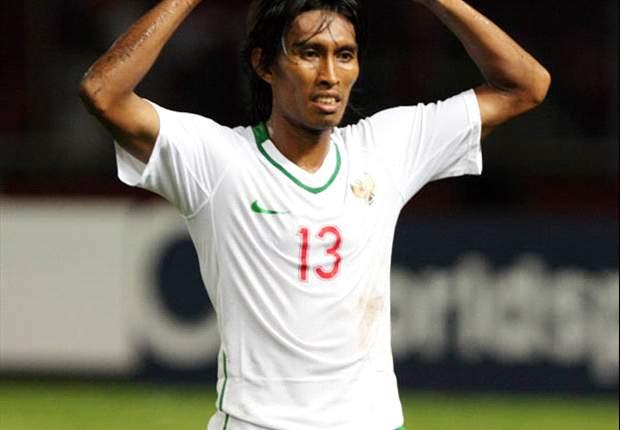 Budi Sudarsono mencetak gol pembuka timnas Indonesia ke gawang Qatar