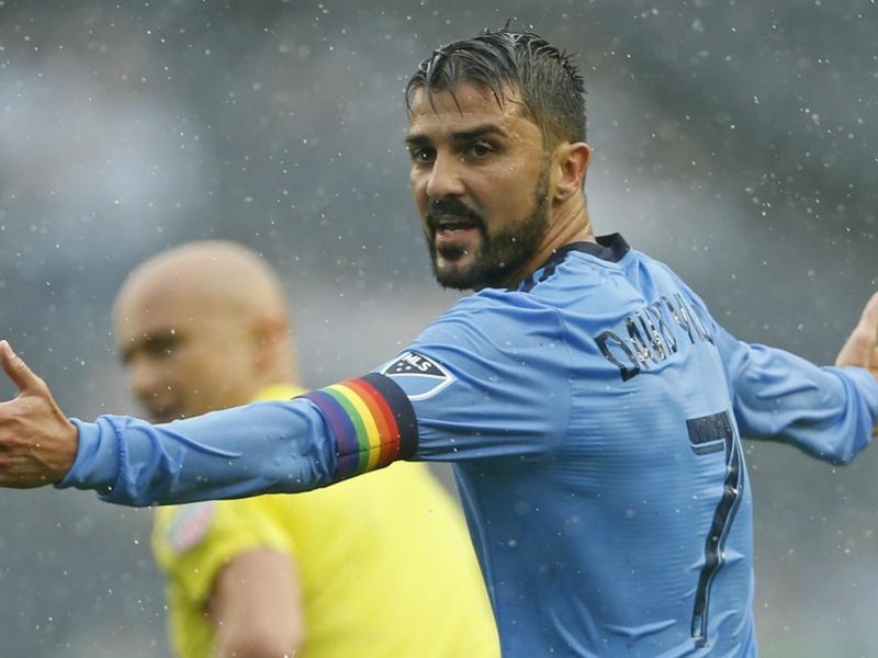 David Villa reaches 50 MLS goals with shining performance in the rain