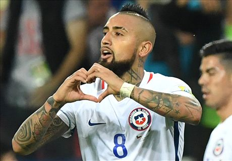 Vidal leads Chile past Cameroon