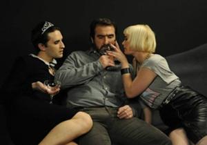 El francés Eric Cantona en una escena de la película.