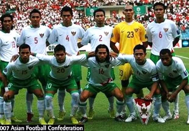 Skuat Merah-Putih saat tampil di Piala Asia 2007 yang digelar di kandang sendiri.