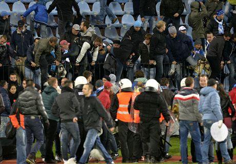 Guerriglia a Bratislava: scontri tra tifosi