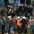 Un'immagine degli scontri a Bratislava