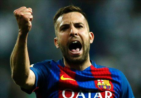 Valverde tem péssima notícia: Jordi Alba desfalca o Barcelona contra o Olympiakos