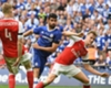 Diego Costa takes a shot in the FA Cup final