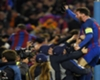 March 2017   Messi celebrates with the crowd after Barca beat PSG 6-1 to overturn a 4-0 first leg deficit