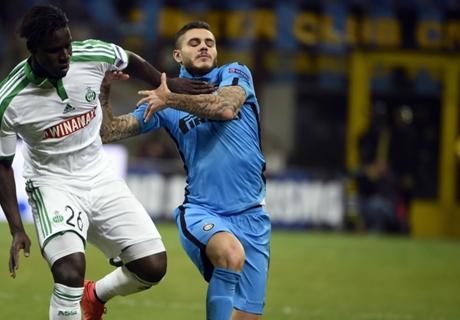 Résumé de match, Inter Milan-Saint-Etienne (0-0)