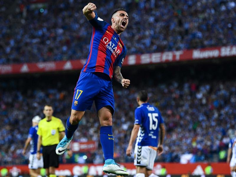 """Barcelone, Alcacer : """"Je ne pense pas à quitter le Barça"""""""