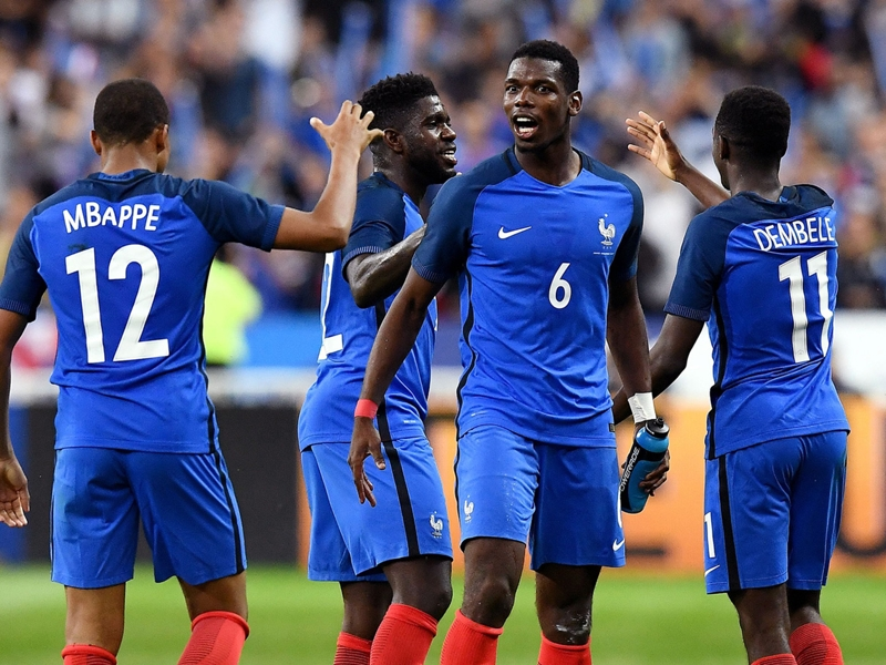Pogba gives wise advice to wonderkid France team-mates Mbappe and Dembele