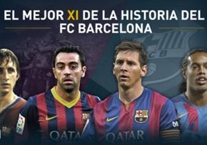 Goal presenta el XI Ideal en la historia del Barcelona