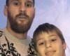 La foto de Messi con un niño