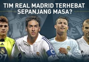 Jelang el clasico, Goal Spanyol meminta pembacanya memilih Real Madrid XI terhebat sepanjang sejarah. Siapa saja yang masuk?