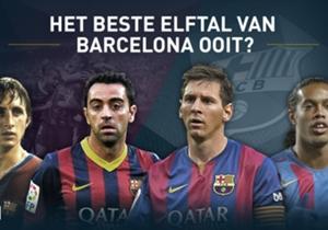 Goal Spanje vroeg haar lezers welke spelers er in het beste elftal van Barcelona aller tijden moesten. Op elke positie konden ze kiezen uit een aantal spelers en de volgende elf hebben het gehaald.