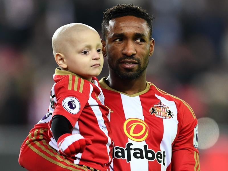 Un maillot hommage au petit Bradley lors d'Everton-Sunderland