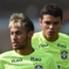 Neymar and Thiago Silva Brazil