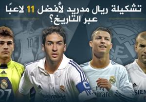 تعرفوا معنا على خيارات الإسبان لأفضل تشكيل لأساطير النادي الملكي الإسباني ريال مدريد