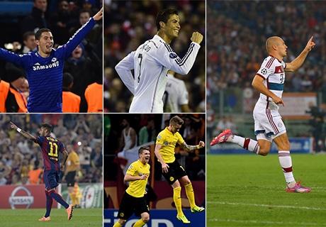 Escolha o gol mais bonito da Champions League