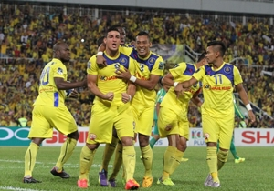 Pahang players celebrate their win over Kedah