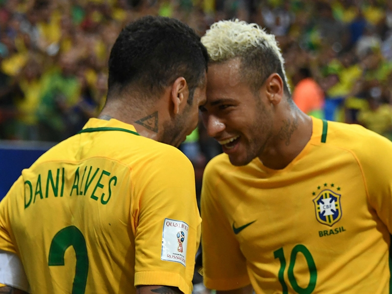 Dani Alves in no rush to complete Man City transfer as he plays beach volleyball with Neymar