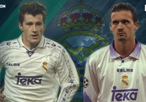 دافور سوكر وبريدراج مياتوفيتش - ريال مدريد 1996 | سجل كل واحد منهما هدفًا في لقاء فاز به الريال بهدفين نظيفين