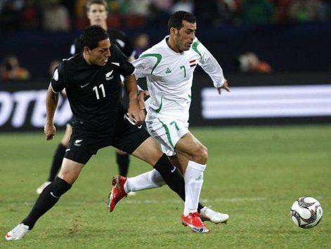 FIFA Confederations Cup: Emad Mohammed - Leo Bertos, Iraq - New Zealand (PA)