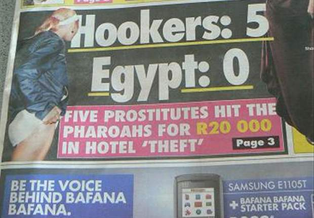 South African Media: Egypt Players Were Robbed By Prostitutes, Not Burglars