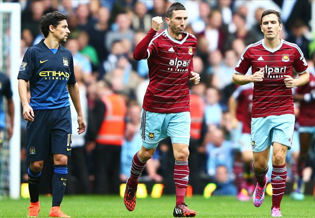 West Ham 2-1 Manchester City: Nightmare week ends in shock defeat for Pellegrini