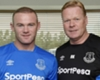 Rooney and Koeman of Everton. CREDIT: Twitter @Everton