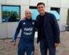 Siguen las reuniones: Sampaoli se encontró con Zanetti