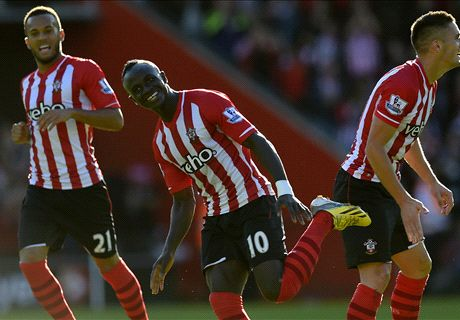 Saints move second after Mane strike