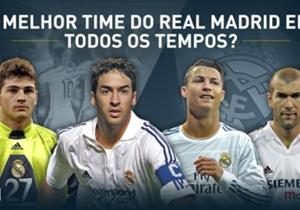 A edição espanhola de Goal realizou enquetes para que os torcedores escolhessem o time dos sonhos da história do Real Madrid. Eis o resultado...