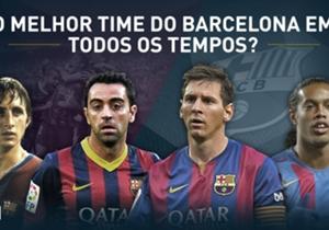 A edição espanhola de Goal realizou enquetes para que os torcedores escolhessem o time dos sonhos da história do Barcelona. Eis o resultado...