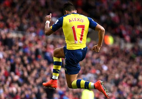 Alexis stars in Arsenal win