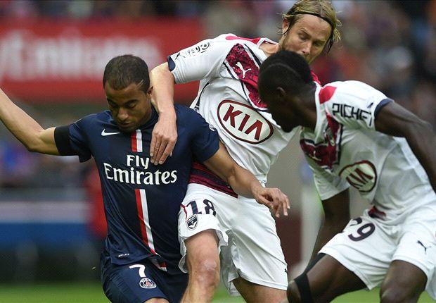Paris Saint-Germain 3-0 Bordeaux: Lucas scores two penalties to extend unbeaten streak