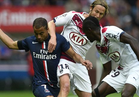 Lucas double guides PSG past Bordeaux