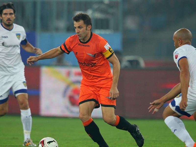 Ultime Notizie: Poker di Del Piero a Materazzi: in India Delhi Dynamos-Chennaiyin finisce 4-1