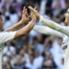 James y Cristiano Ronaldo celebran uno de los goles del Clásico