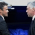 Luis Enrique stringe la mano ad Ancelotti