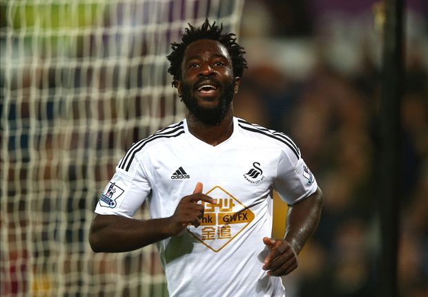 Swansea City 2-0 Leicester City: Bony shines as hosts move above Liverpool